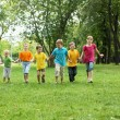 Stock Photo: Group of children in the park