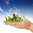 Green world and wildlife protected - Foto Stock