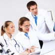 Young doctors at work — Stockfoto