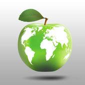 Apple comme un modèle de la terre de planète — Photo