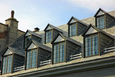 Rows of vintage windows — Stock Photo