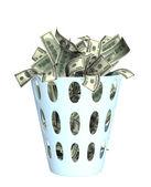 Peníze v přihrádce — Stock fotografie