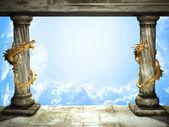 Niebo i smoki — Zdjęcie stockowe