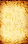 Grunge 背景与信件 — 图库照片