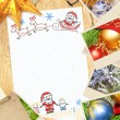 Letter to Santa Claus — Foto Stock