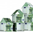 Stock Photo: Houses from euro banknotes