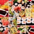 Collage of several photos japanese sushi — Stock Photo #7731998