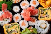 Japońskie sushi zbliżenie. — Zdjęcie stockowe