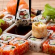 Постер, плакат: Closeup japanese sushi