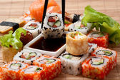 Closeup japanese sushi — Stock Photo
