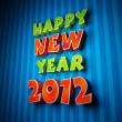 Colorful words of happy new year 2012 — Photo