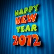 Colorful words of happy new year 2012 — Stockfoto
