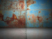 Old rusty metal plate — Foto Stock