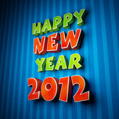 Colorful words of happy new year 2012 — Stock Photo
