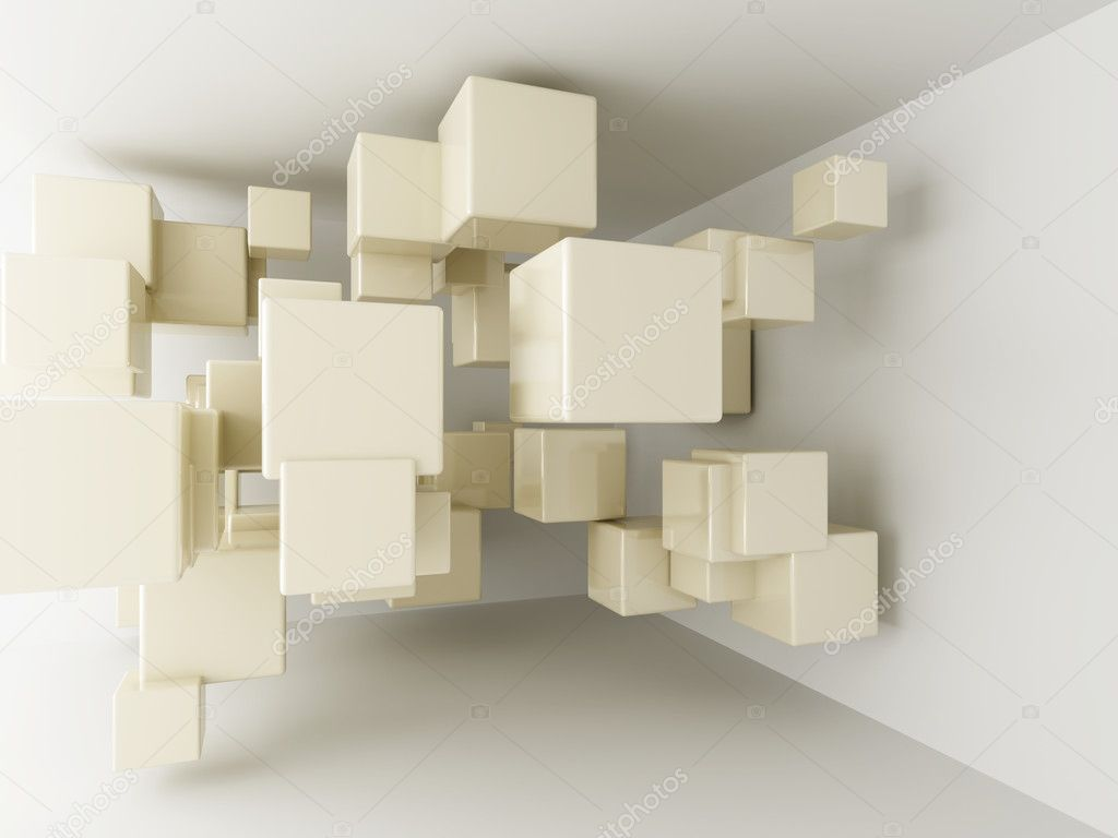 Abstract geometric shapes from cubes  Stock Photo #7495747