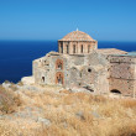 Church of Agia Sofia of byzantine town Monemvasia,Greece — Stock Photo #6817250