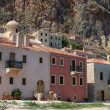 Stock Photo: Old houses of byzantine town Monemvasi,Greece