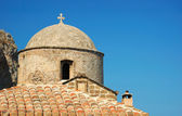 Dome of old byzantine church of Monemvasia town, Greece — Stock Photo