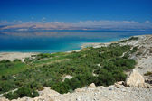 Panorama of Dead Sea and Arava desert, Israel — Stock Photo