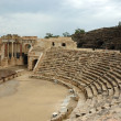 Panorama of ancient theatre ruins of Beit She'an (Beit Shearim) - Stock Photo