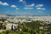View of Athens roofs and Areipagus hill from Acropolis,Greece — Stock Photo