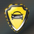 Vecteur: Protection shield with car icon