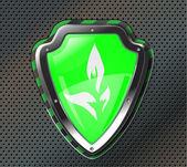 Eco Protection shield — Stock Vector