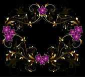 Vintage stylized floral frame — Stock Vector