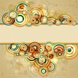 Abstract retro background, vector illustration - 