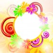 Colorful floral background, vector illustration — Image vectorielle