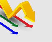 3d arrows, vector illustration — Stock Vector