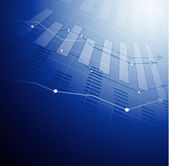 Abstract stock diagram — Stock Vector