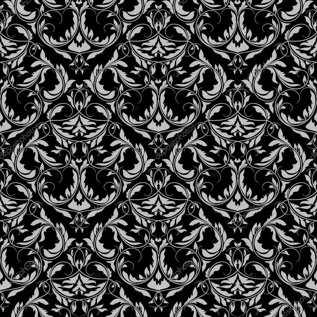 欧式花纹黑色背景