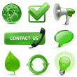 Green Web Icons — Stock Vector
