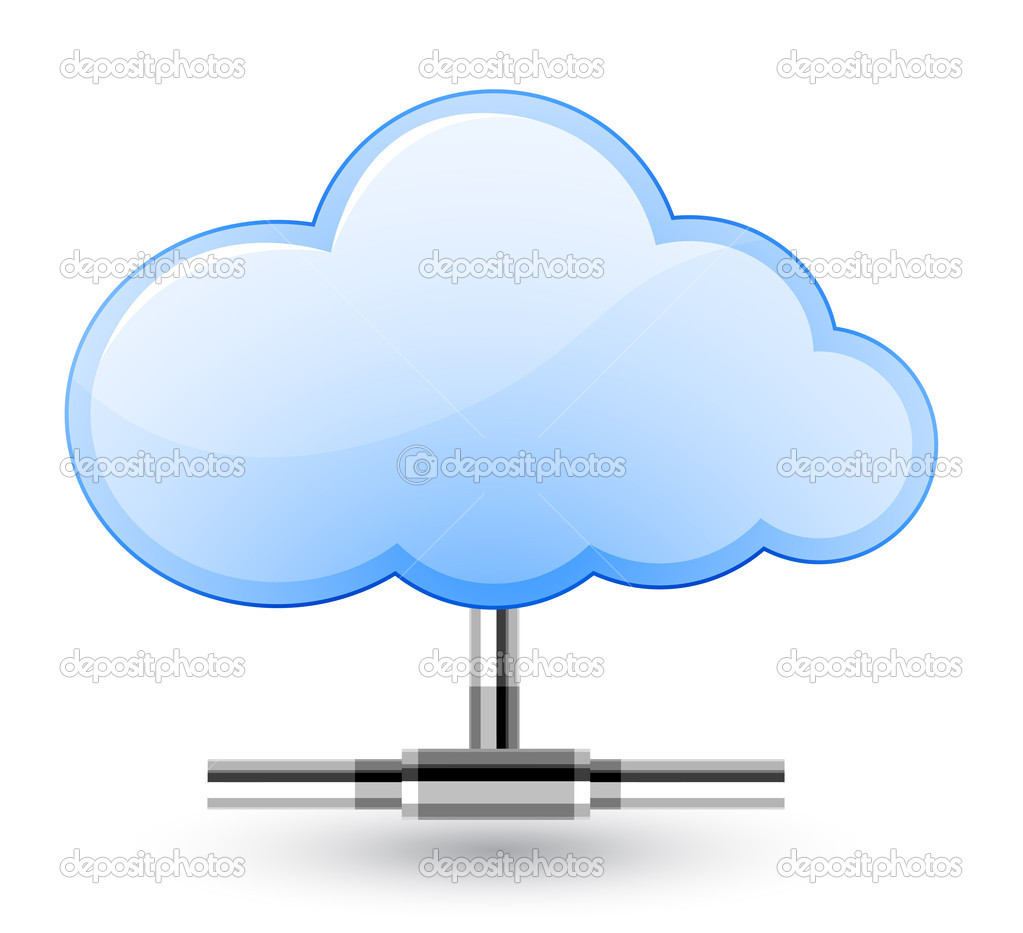 Cloud network connection. Vector Illustration — Stock Vector #7231777