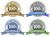 Znaki gwarancją zwrotu pieniędzy — Wektor stockowy