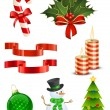 Royalty-Free Stock Vektorfiler: Christmas icon set
