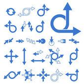 Vector Arrow Signs — Stock Vector