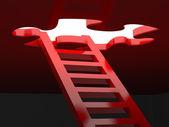 Merdivenlere başarı 3d render — Stok fotoğraf