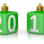 Christmas fur-tree toys 2012 — Stock Photo