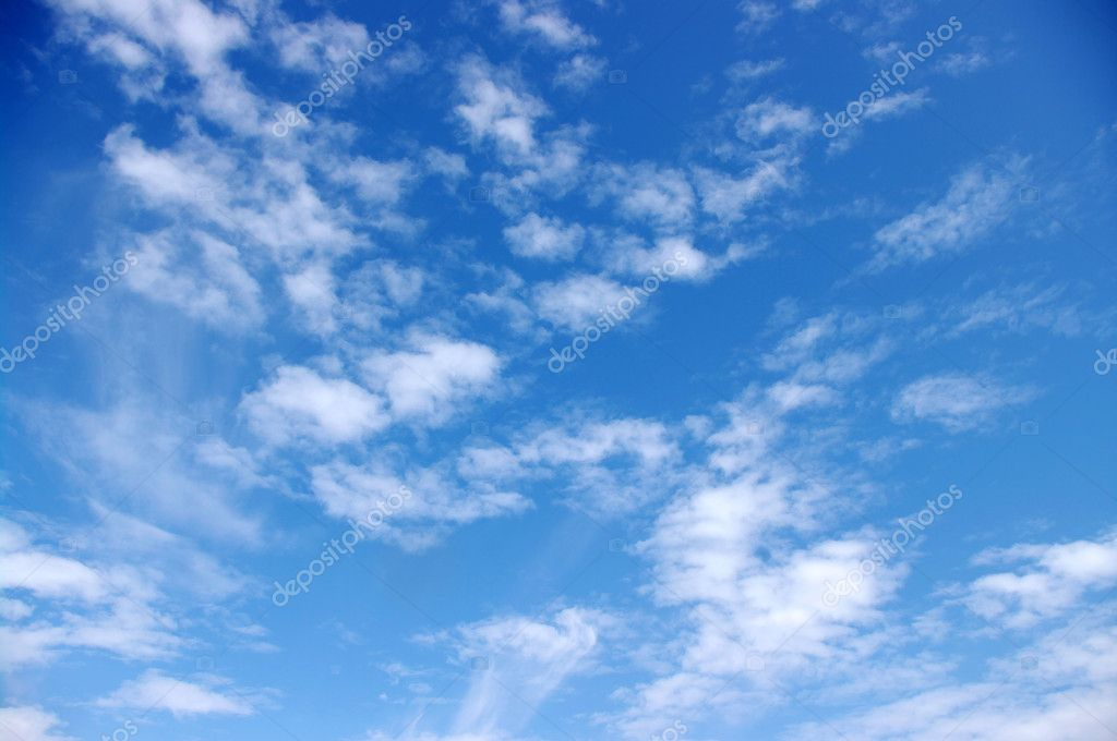 Blue sky background with white clouds — Stock Photo #6856549