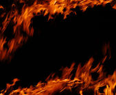 Płomienie ognia — Zdjęcie stockowe