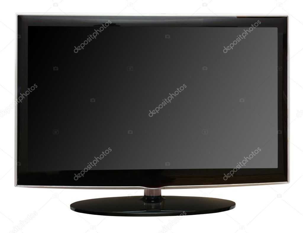 Frontal  lcd monitor isolated on white  — Stock Photo #7378471