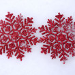 Stock Photo: Beautiful snowflakes