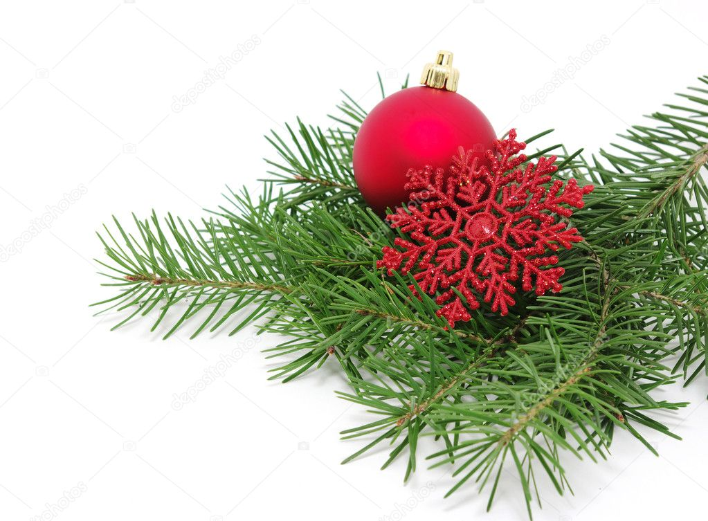 Christmas decoration  isolated on white  Stock Photo #7906880
