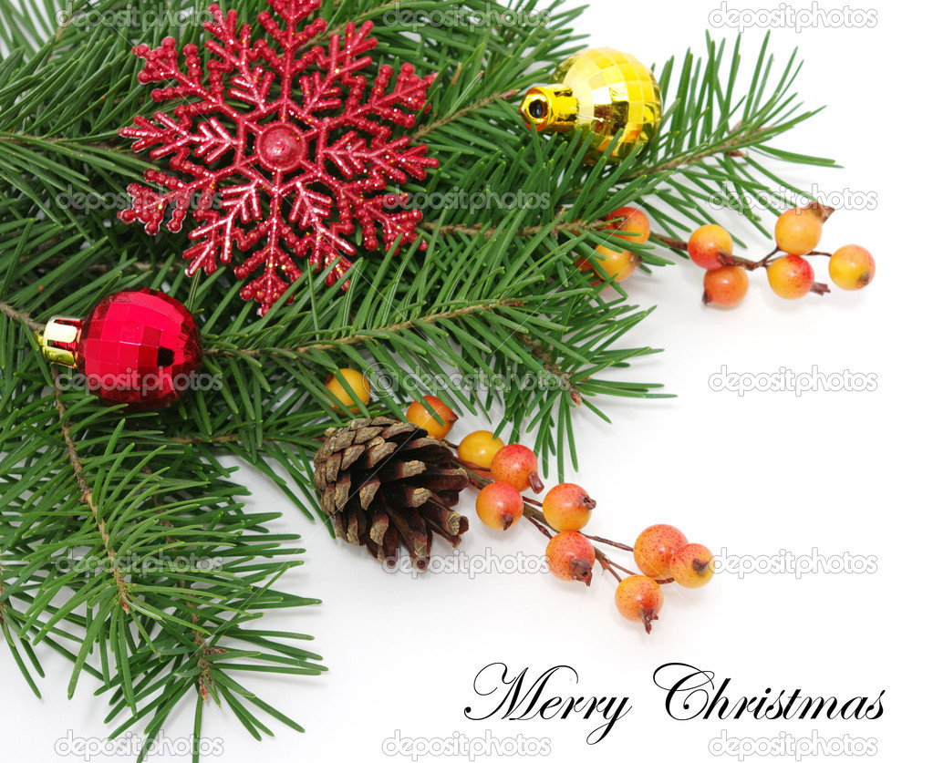 Christmas decoration  isolated on white — Stock Photo #7906882