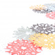 Origami snowflakes — Stock Photo