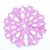 Origami snowflake — Stock Photo