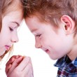 Two loving child. Brother and sister. — Stock Photo