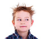 Boy looking sideways — Stock Photo
